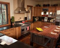 Hickory Kitchen Cabinets Houzz - Hickory kitchen cabinets pictures