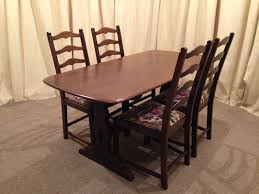 ercol table u0026 chairs old colonial refectory table u0026 4 ladder back