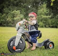 Motorcycle Halloween Costume Live Ride Baby Biker Costume Halloween Costume Contest