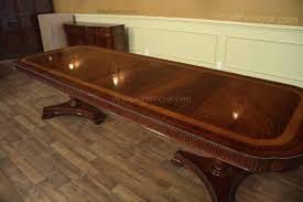 Regency Dining Table And Chairs Narrow Formal Mahogany Dining Table With Leaves Seats 10 12