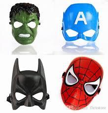 Batman Halloween Costume Mens Children Kids Party Masks Cartoon Spiderman Batman Halloween Masks