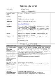 Resume Format For Journalism Jobs by Common Resume Format
