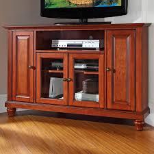 cherry corner media cabinet crosley cambridge 48 in corner tv stand classic cherry