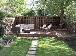 awesome backyard small deck ideas closed small yard design with a