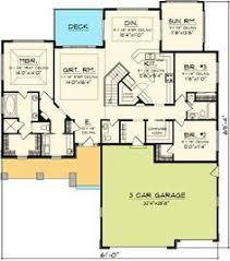 Architecture Design Floor Plans Plan 72867da Open Concept Craftsman With Flex Space Open