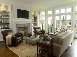 Classy And Neutral Family Room Furniture Arrangement Business - Decor ideas for family room