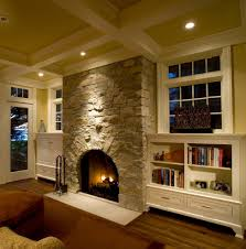 transitional fireplace inserts with mirror above fireplace living