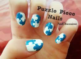 easy puzzle piece nail art youtube