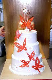 Red Butterfly Wedding Cake By The Evil Plankton On Deviantart