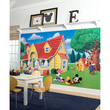 mickey friends chair rail prepasted mural 6 ft x 10 5 ft ultra mickey friends chair rail prepasted mural 6 ft x 10 5 ft ultra
