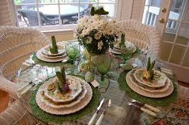 Easter Table Decor Table Setting Tablescape With Floral Centerpiece U0026 Bunny Napkin Fold