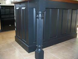 kitchen island table legs island posts to fit three sided skirting for kitchen islands