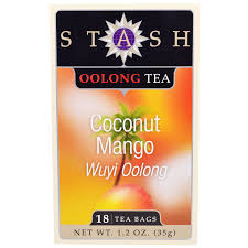 stash tea oolong tea coconut mango 18 tea bags 1 2 oz 35 g