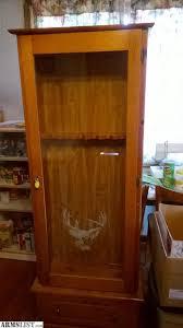gun cabinet for sale armslist for sale gun cabinet wood glass door 6 guns bottom dr