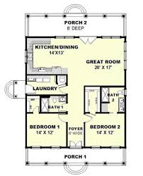 building plans for cabins cottage style house plan 2 beds 2 00 baths 1292 sq ft plan 44 165