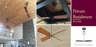belt powered ceiling fan mahogany belt driven direct drive and pulley ceiling fans