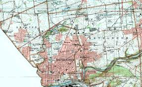 Easton Town Center Map Northampton County Pennsylvania Township Maps