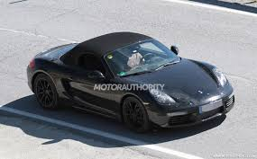 porsche black 2017 porsche confirms four cylinder engine for 2017 boxster and cayman