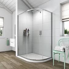 clarity 6mm one door offset quadrant 1200 x 800 with shower tray rh