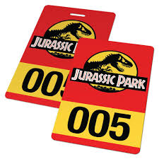 jurassic park tour car custom id card jurassic park vehicle pass badge u2013 famous ids