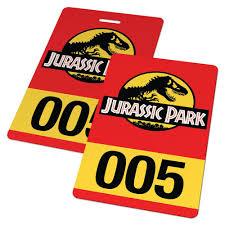 jurassic park tour car custom id card jurassic park vehicle pass badge u2013 famous ids