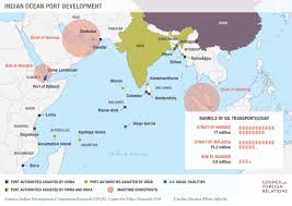 India On The World Map by Competition In The Indian Ocean Council On Foreign Relations