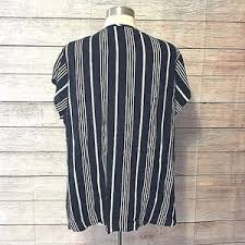 black and white striped blouse cynthia rowley nwt cynthia rowley black white striped blouse