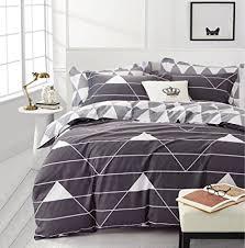 triangle bedding amazon com minimal style geometric shapes duvet quilt cover
