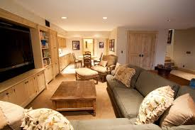 Pottery Barn 3 Piece Sectional Country Basement With French Doors By Am Interior Design Zillow