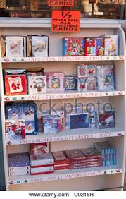 christmas cards for sale in a shop uk stock photo royalty free