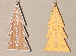 wooden tree ornaments woodwaves