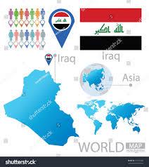Iraq On World Map Iraq Flag Asia World Map Vector Stock Vector 151723952 Shutterstock