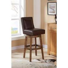 Brown Leather Bar Stool Bar Stools Kitchen U0026 Dining Room Furniture The Home Depot