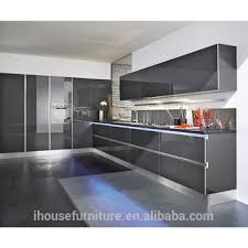 grey kitchen cabinet doors hotsale popular high glossy grey finish acrylic kitchen cabinet