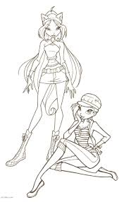 barbie winx roxy colouring pages within barbie colour in pictures