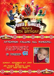 power ranger birthday invitations afoodaffair me