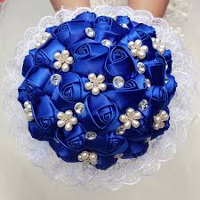 wedding flowers royal blue aliexpress buy 1piece lace new simple royal blue