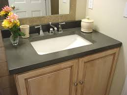 white sink black countertop bathroom adorable bathroom completed with glossy black countertop