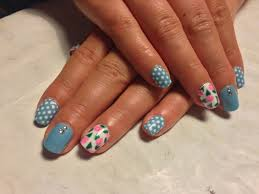 blue shellac nail art images