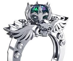 engagement rings skull winged skull engagement ring buy this bling