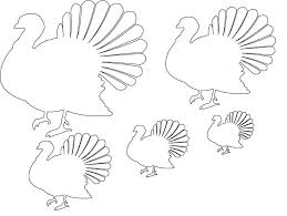 turkey template free applique templates patterns 42