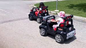 small jeep for kids kids car race kids small police cars jeep and truck youtube
