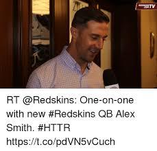 Alex Smith Meme - redskins com rt one on one with new redskins qb alex smith httr