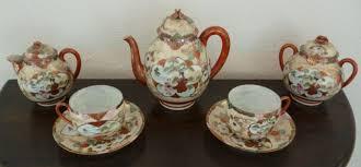 Japanese Kutani Vases Japanese Kutani Tea Set Meiji Period