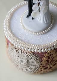 pearl cake topper cultured pearl wedding cake topper vintagegown