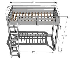 Plans For Loft Beds Free by Best 25 Build A Loft Bed Ideas On Pinterest Boys Loft Beds