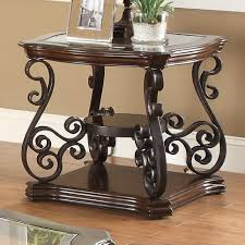 Traditional Coffee Tables by Occasional Traditional Coffee Table With Tempered Glass Top