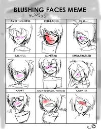 blushing faces meme ruby an anime speedpaint drawing by