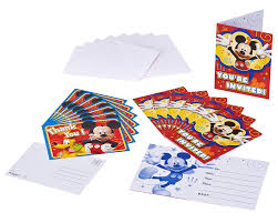 Mickey Mouse Invitation Cards Amazon Com Mickey Mouse Clubhouse Invite And Thank You Combo 8