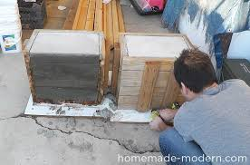 Bench Molds - homemade modern ep57 outdoor concrete bench